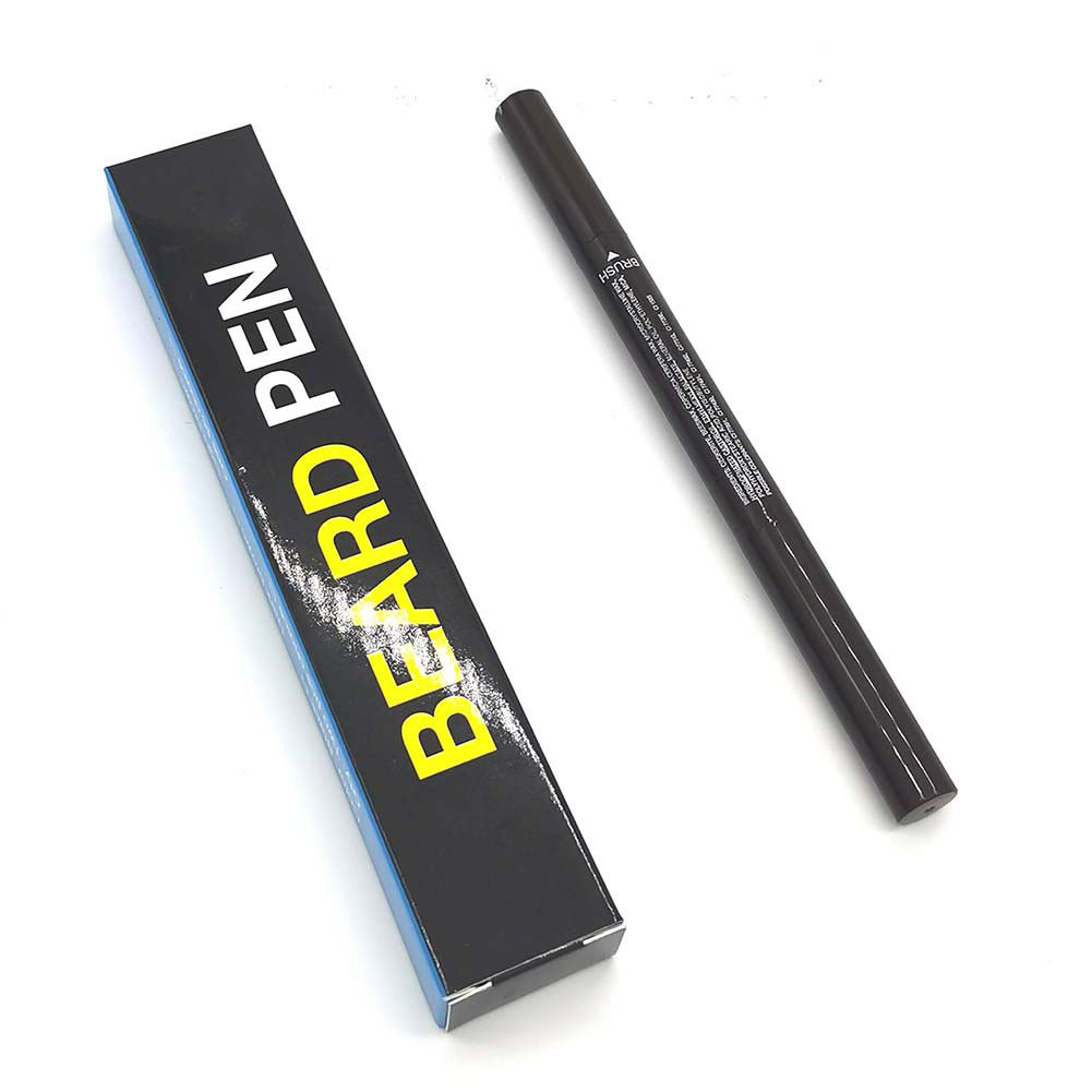 Men Beard Pen Painted waterproof  Beard Enhancer Moustache pencil black_2 pack