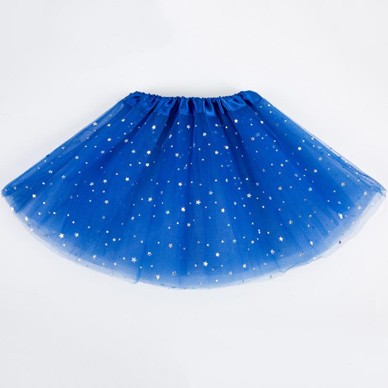 Children Girl Sequined High Elastic Mesh Skirt Dance Bubble Skirt