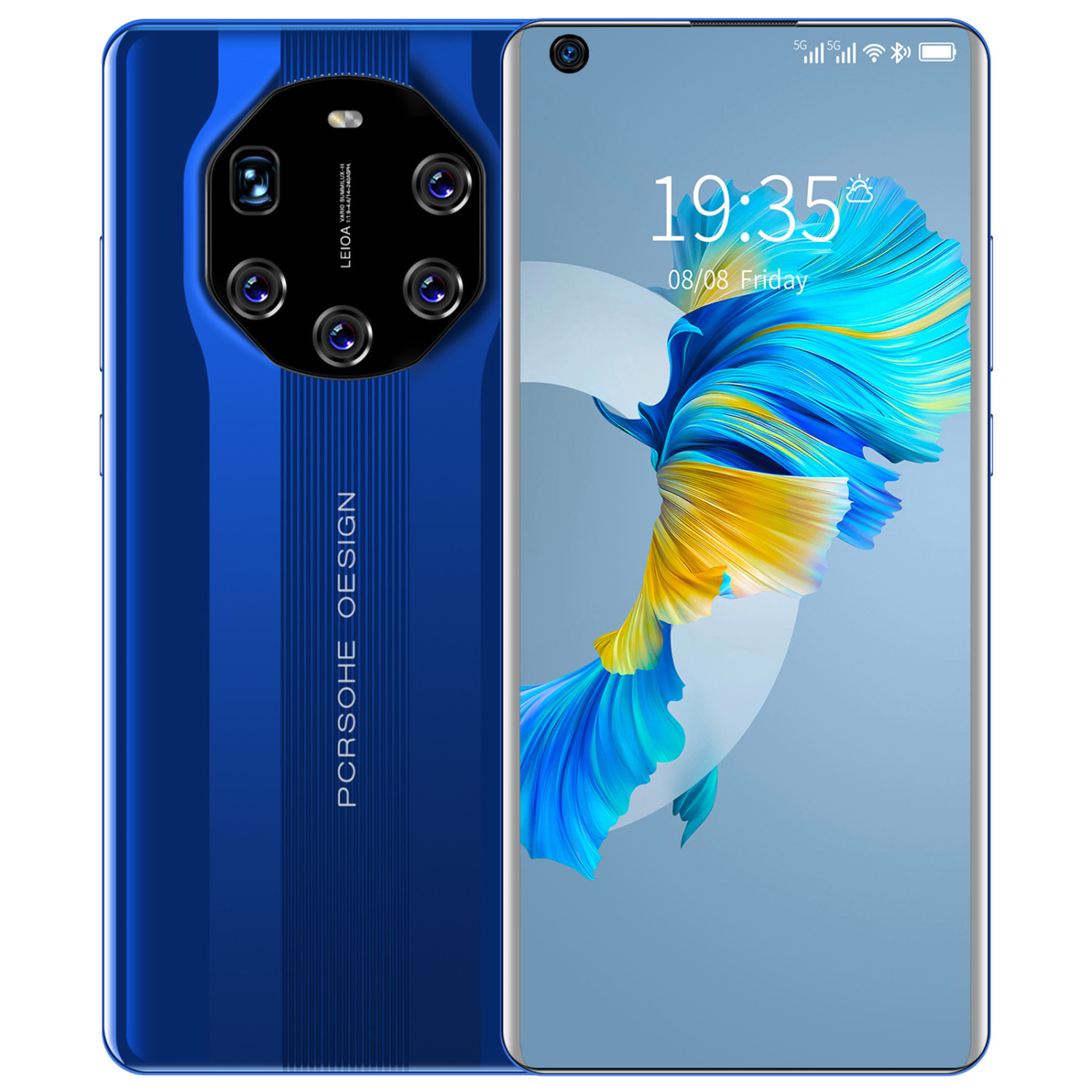 High-end 6.55-inch Mate40 Rs Hd 4g Smartphone 3+64gb Glass Back Cover Smartphone blue