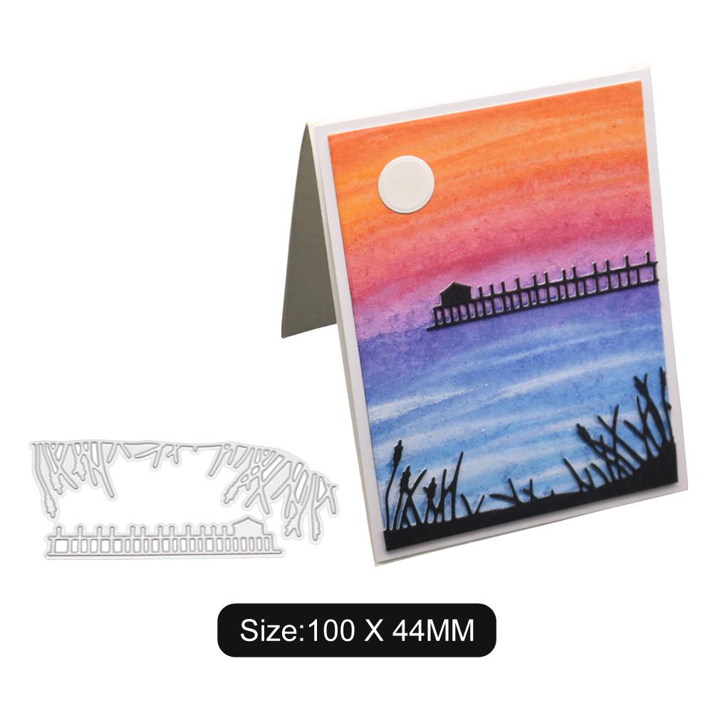 Lake Grass Pattern DIY Carbon Steel Cutting Dies for Scrapbook Background Envelope Lace Decor 2100186
