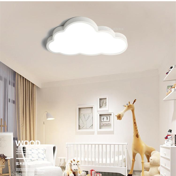 36W/48W LED 220V White Cartoon Cloud Shape Baby kids Bedroom Ceiling Light Stepless dimming_50X28CM_(57x35x12cm 1.7kg)