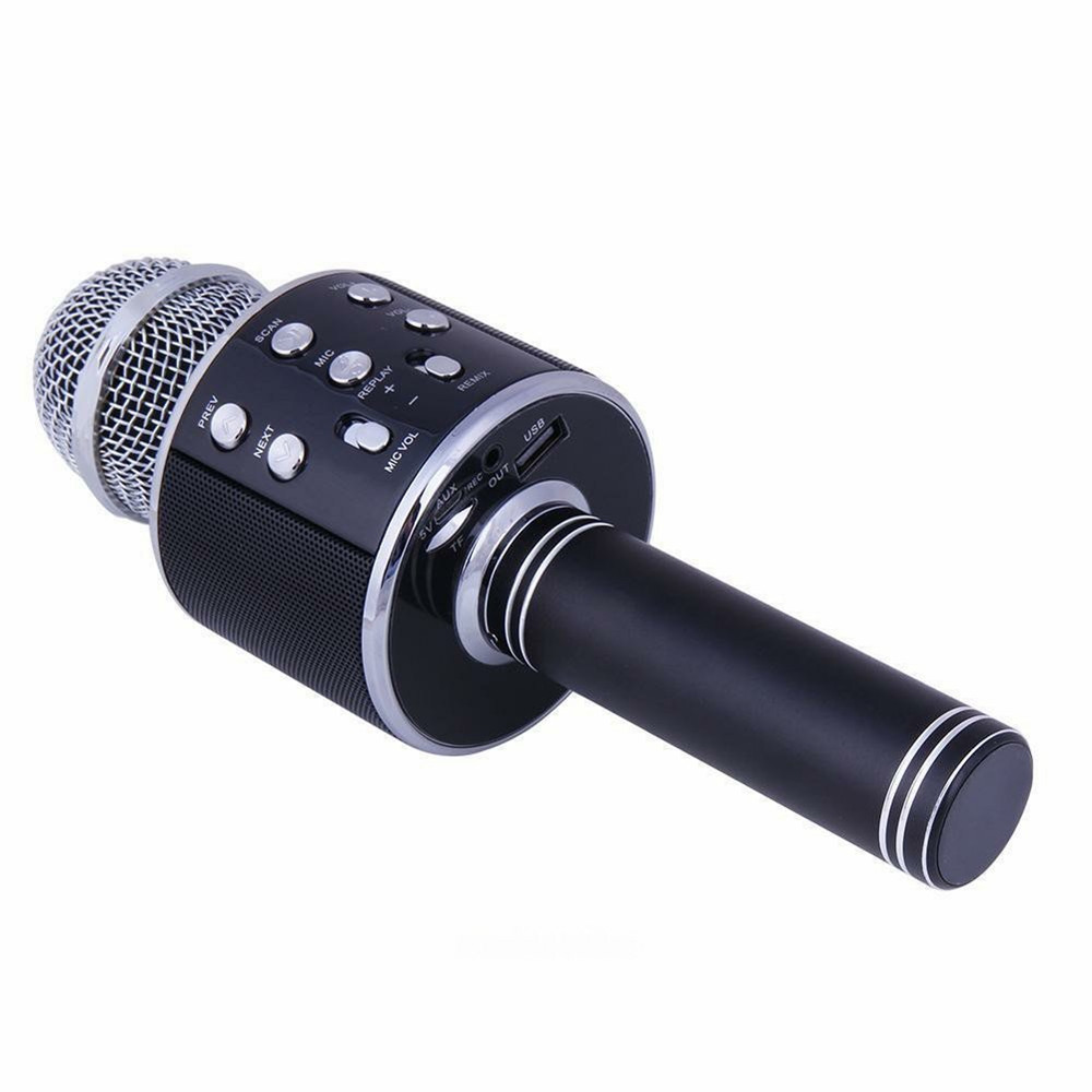 Bluetooth Wireless Condenser Magic Karaoke Microphone Mobile Phone Player MIC Speaker Record Music black_Ws858