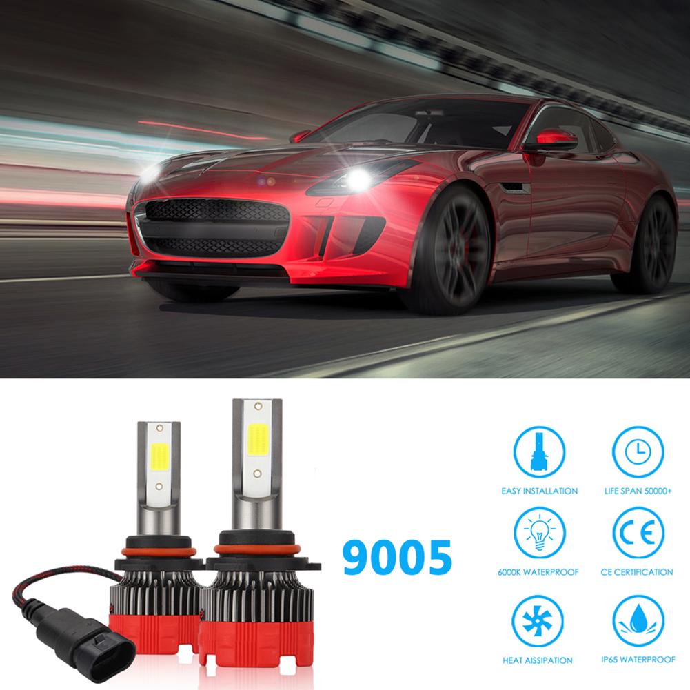 2PCS 120W 12000LM Mini Assembly H1 H7 H4 H8/H9/H11 9005 9006 LED Car HeadLight Fog light 9005