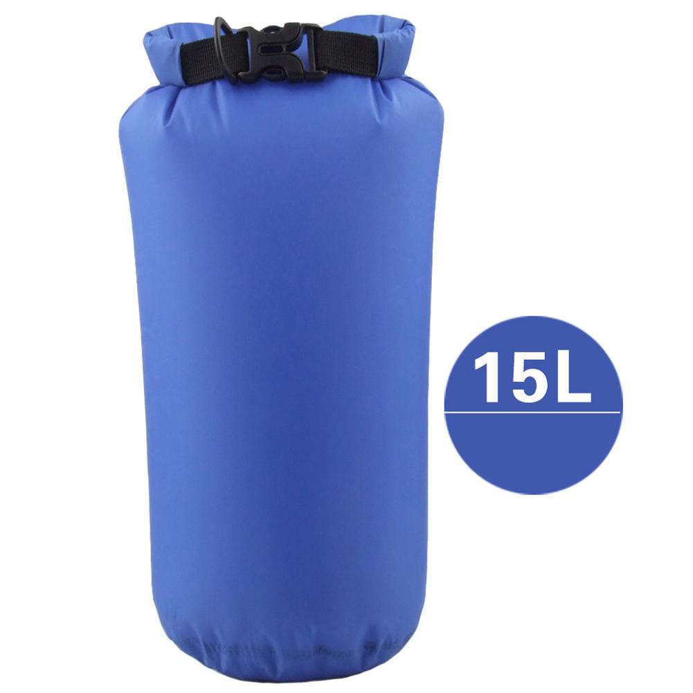 Outdoor Bag Camouflage Portable Rafting Diving Dry Bag Sack PVC Waterproof Folding Swimming Storage Bag for River Trekking Royal Blue (15L)_15L
