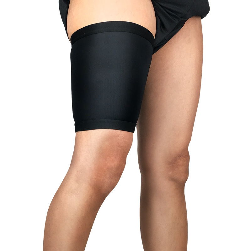 Thigh Protection Sports Basketball Football Running Compressed Leg Cover Muscle Protection Sleeve Black  M