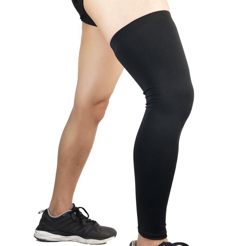Sports Knee Pad Anti-slip Warm Compression Leg Sleeve Protector for Basketball Football Sports 1PC Black 1PC XL