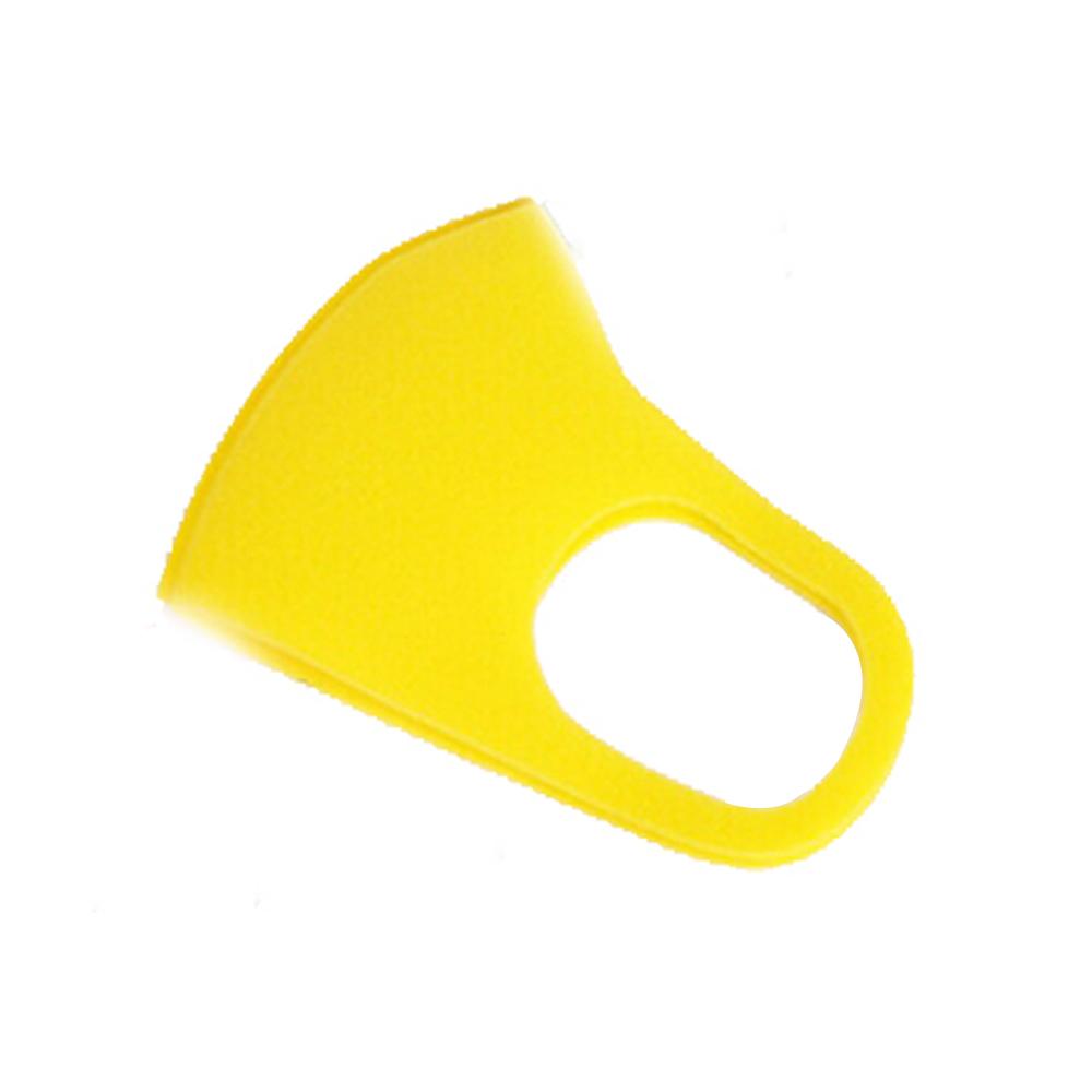 1pc/3pcs 3D Anti-fog Sponge Dustproof Washable PM2.5 Protective Mask for Kids yellow_1pc