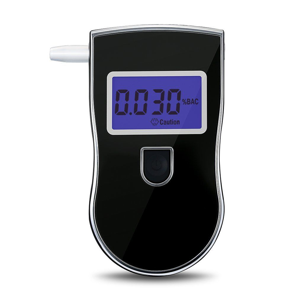 Digital Breath Alcohol Tester LCD Breathalyzer Meter Analyzer Detector (Black) (without Battery) black