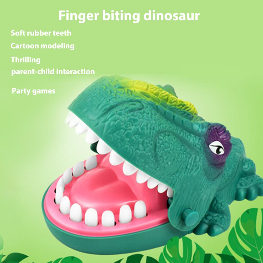 Hand Finger Biting Dinosaur Toy Parent-child Interactive Trick Game Funny Joke Prank Gift