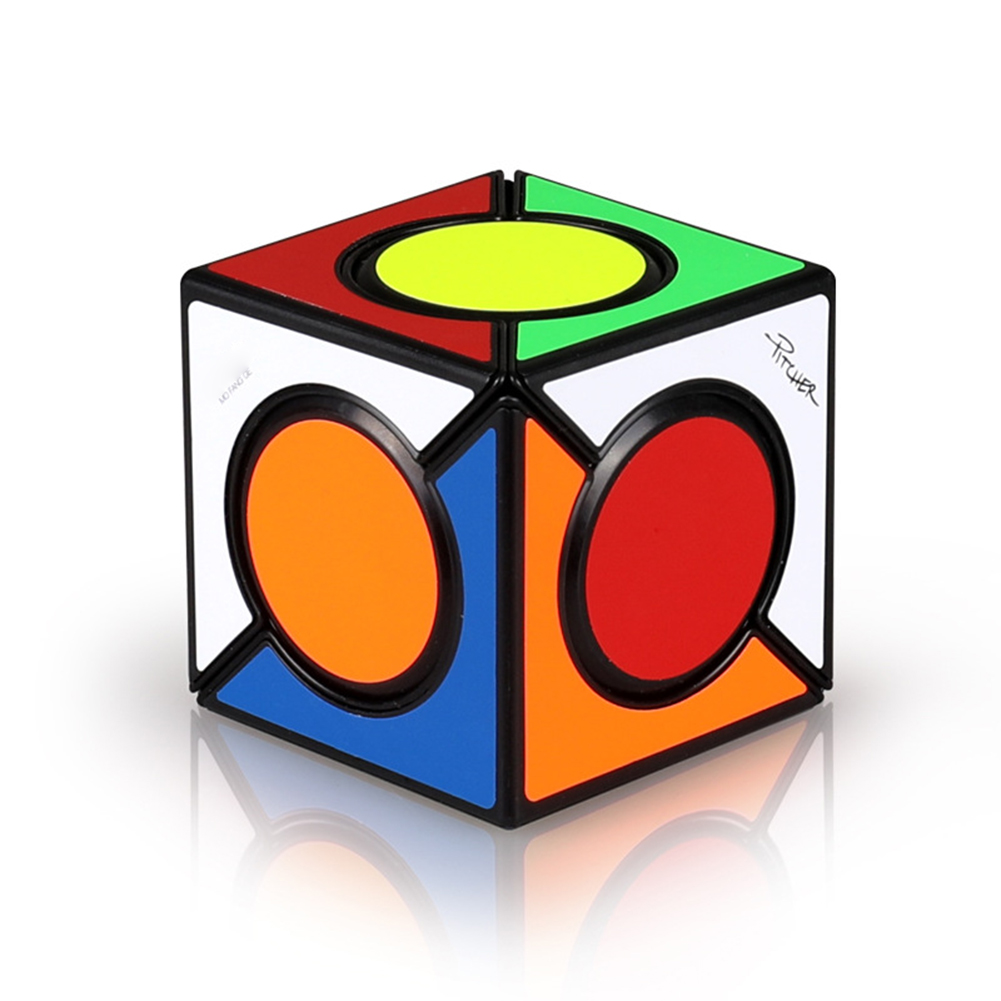Inclined Rotation Magic Cube Puzzle Toys for Children black