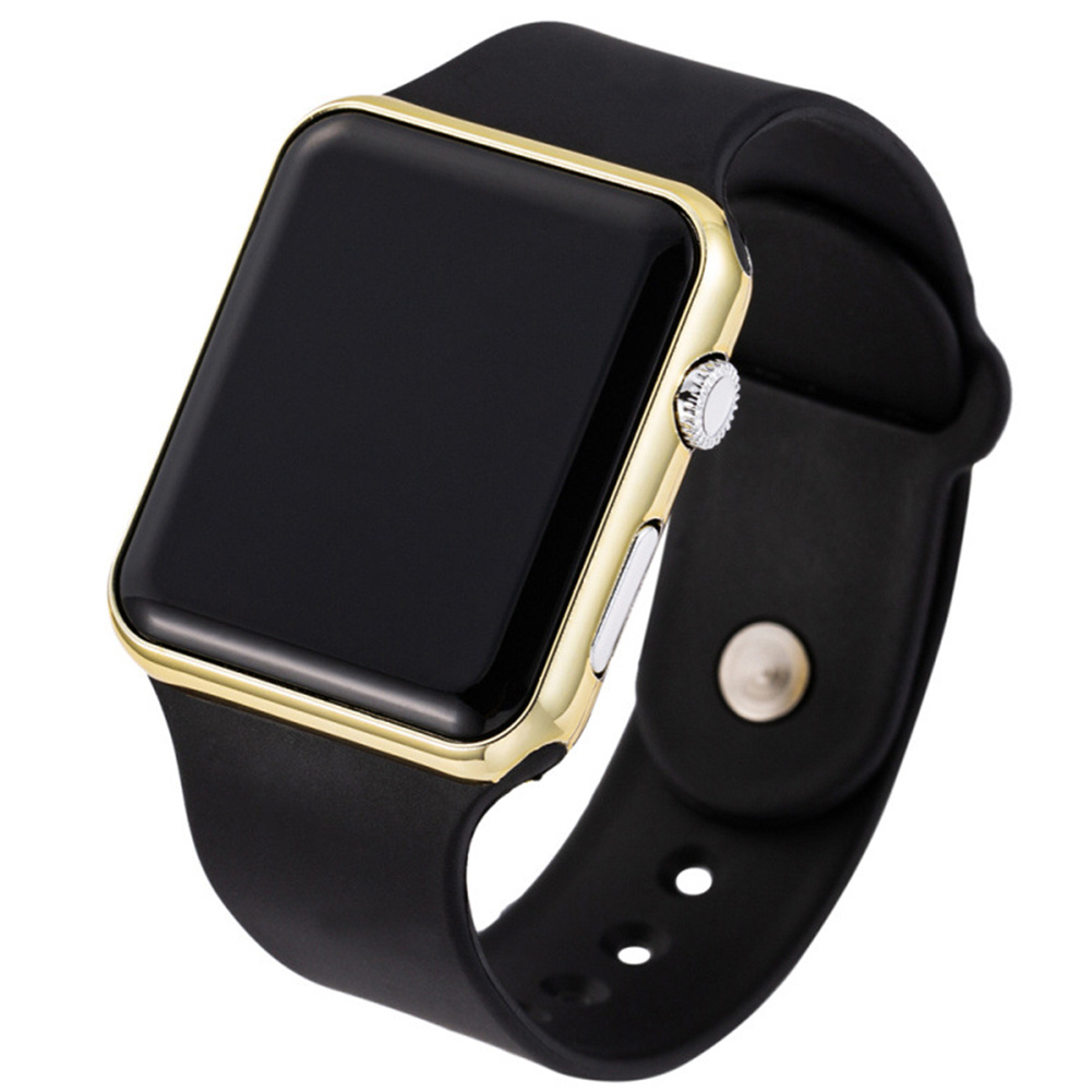 LED Square Casual Digital Watch with Rubber Band Sports Wrist Watches for Man Woman (colors optional) 1#