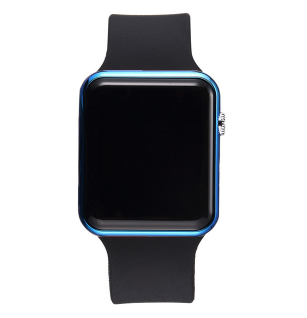 LED Square Casual Digital Watch with Rubber Band Sports Wrist Watches for Man Woman (colors optional) 4#