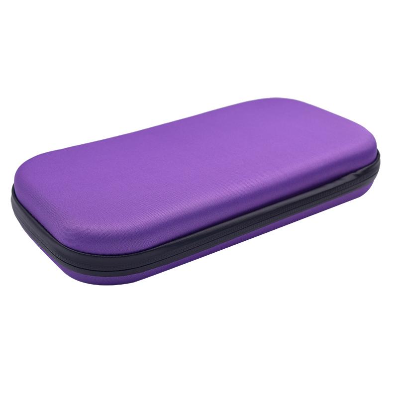 Portable Stethoscope Storage Box Carry Travel Case Bag Hard Drive Pen Medical Organizer purple