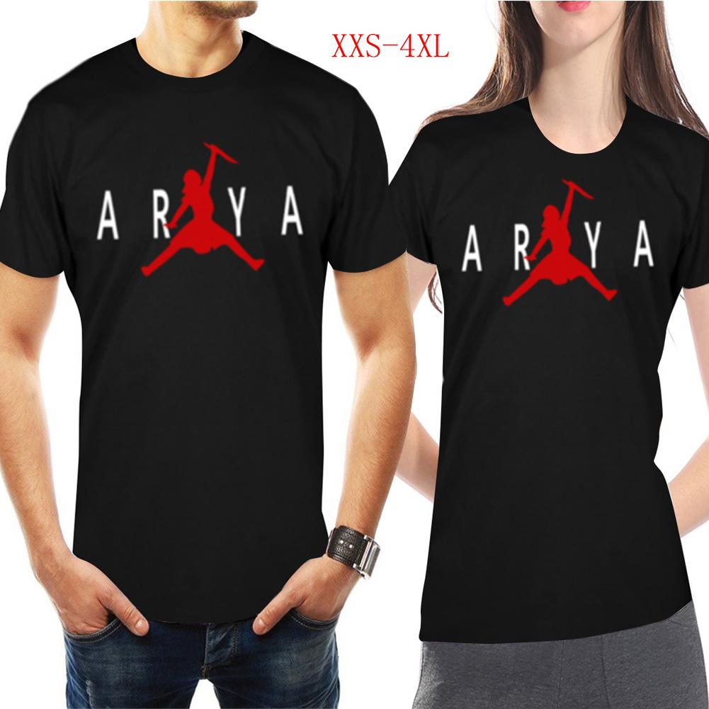 Men Women Casual Novelty Game of Thrones Arya Stark GOT Night King Jordan Printing Short Sleeve T-shirts