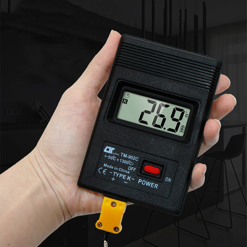 TM-902C (-50C to 1300C) Temperature Meter TM902C Digital K Type Thermometer Sensor + Thermocouple Probe Detector Black (ZJ0134)