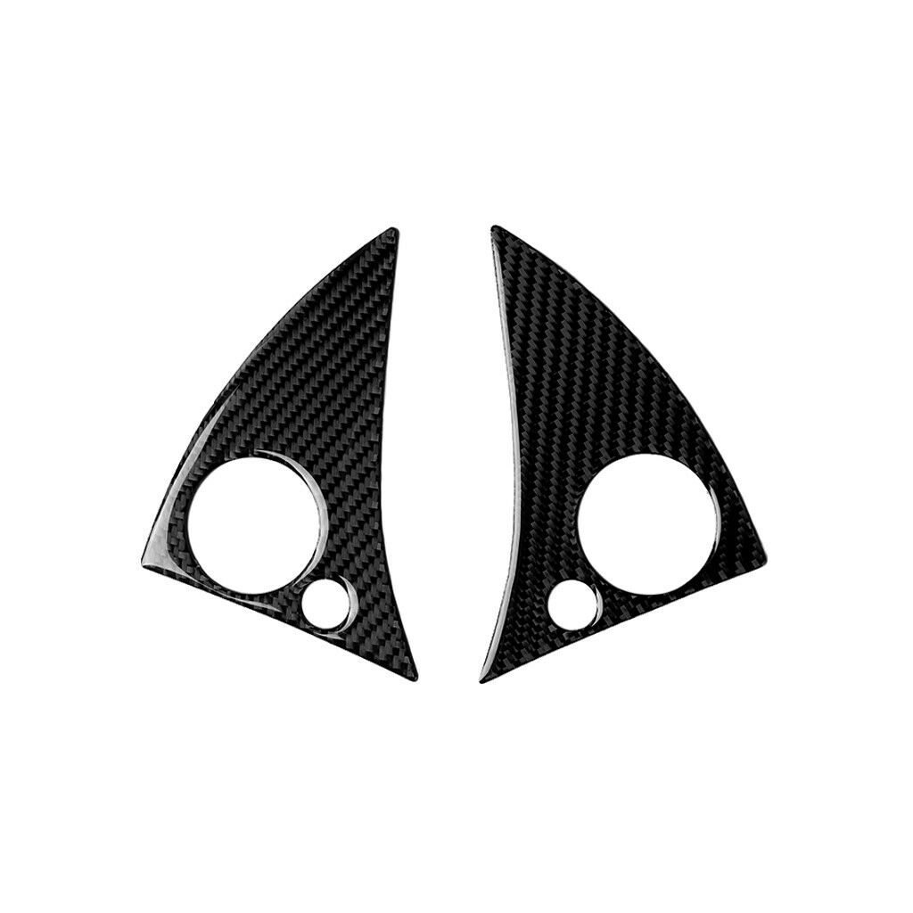 2pcs Carbon Fiber Steering Wheel Button Cover For C Class W204 2007-2010 Carbon fiber black