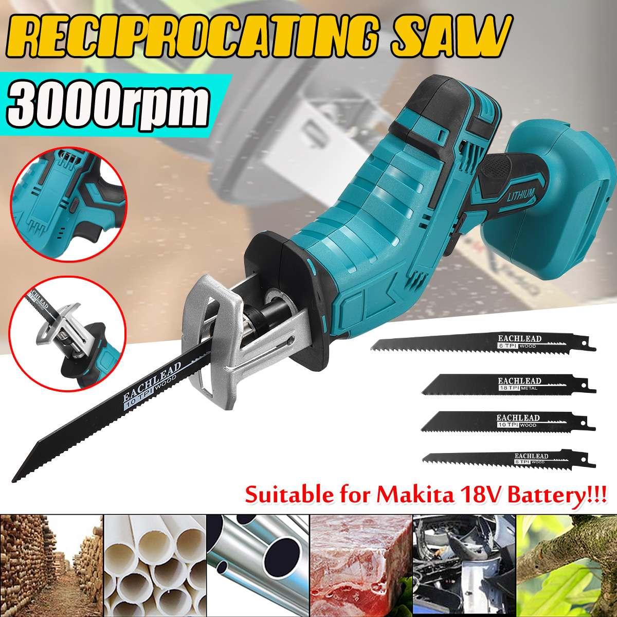 18v Saber Saw Lithium Battery Brushless Reciprocating Bare Metal