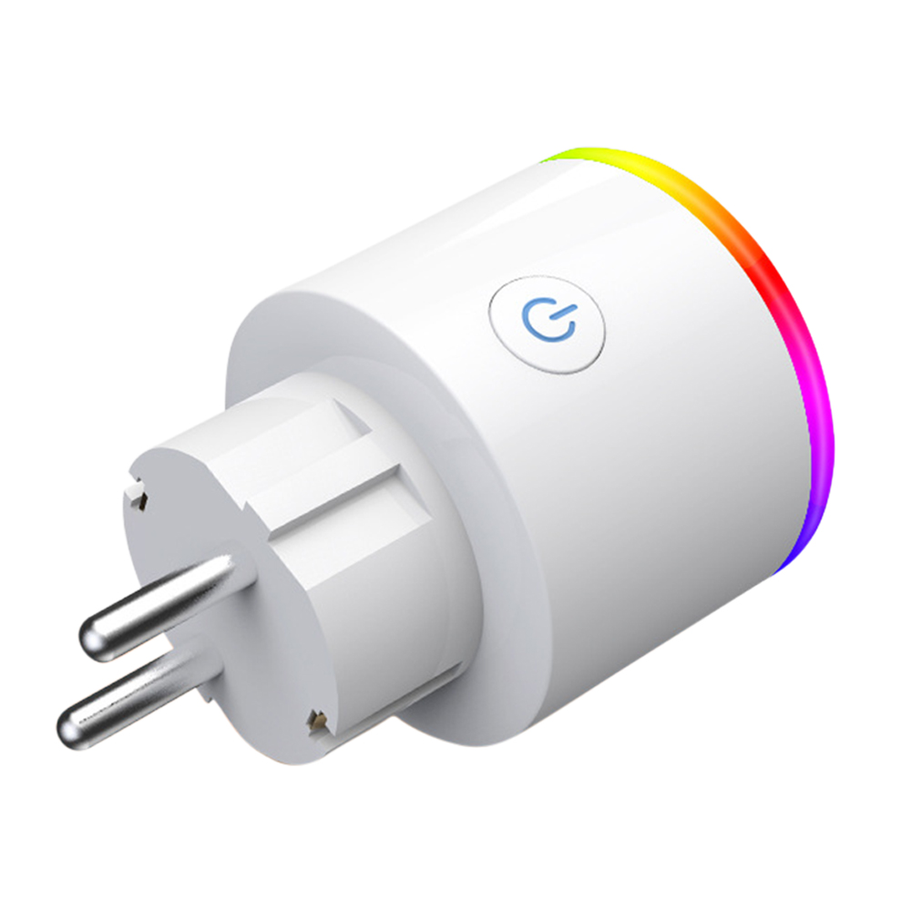 RGB Colors Change Intelligent Wifi Socket with Voice Control European Plug RGB scene light European plug socket