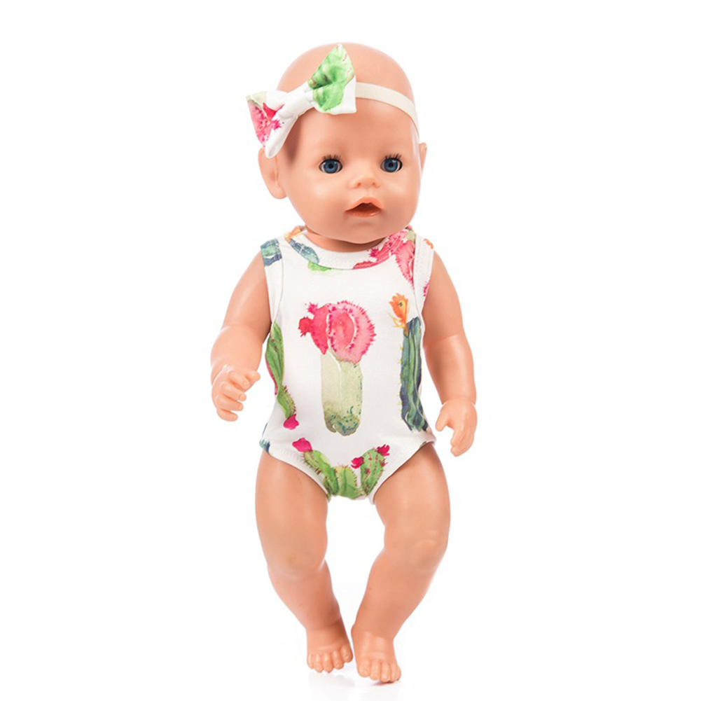 Beautiful Mini Clothes Dress for 18inches Girl Doll Kids Birthday Party Gift  Q-225 cactus rompers
