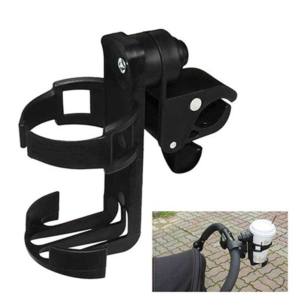 Water Bottle Holder Rotation Adjustable Quick Release Water Bottle Cage Holder Rack for Stroller Mountain Road Bike Bicycle Black
