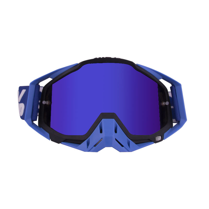 Motorcycle  Goggles Outdoor Off-road Goggles Riding Glasses Windproof Dustproof riding glasses Blue black + blue (blue film)