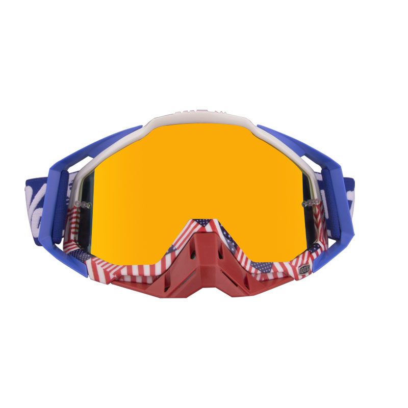 Motorcycle  Goggles Outdoor Off-road Goggles Riding Glasses Windproof Dustproof riding glasses American flag