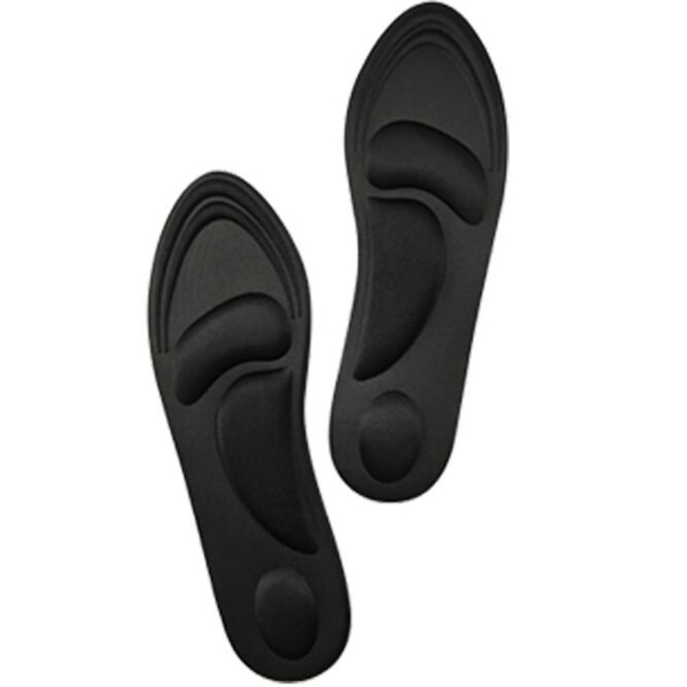 4D Arch Support Orthotic Massage High Heels Sponge Anti Pain Shoe Insoles Cushions black_35-40