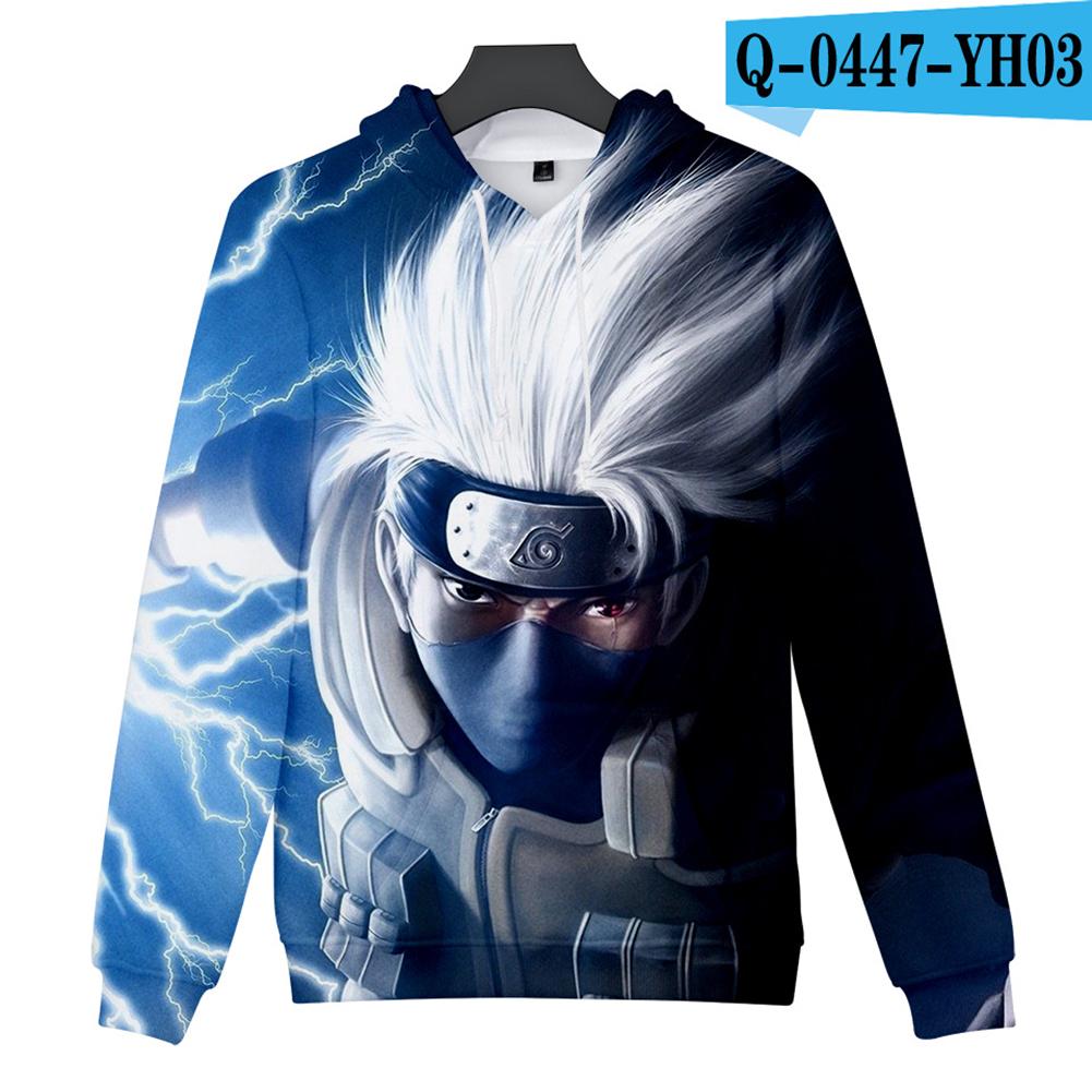 Men Women 3D Naruto Series Digital Printing Loose Hooded Sweatshirt Q-0447-YH03 F_S