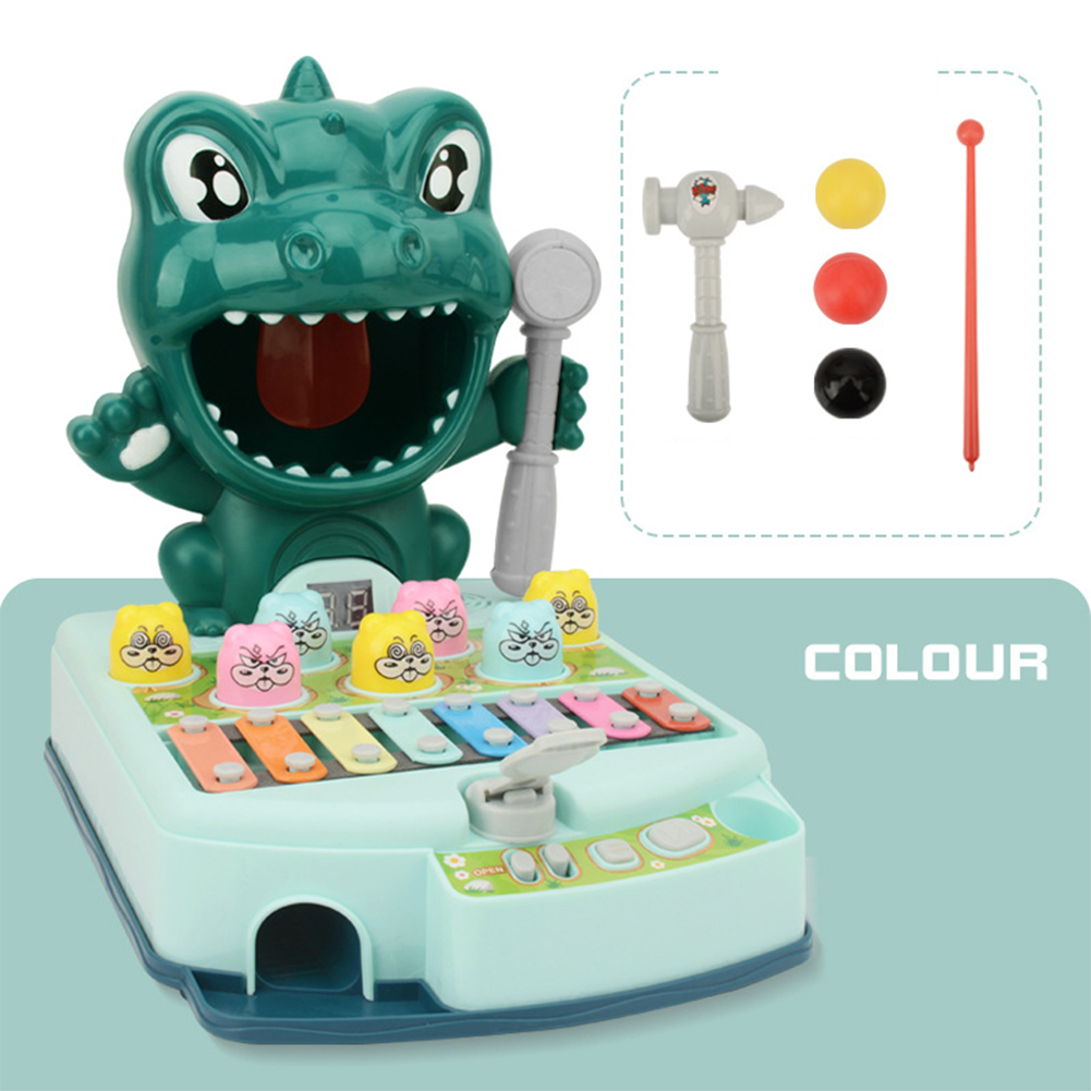 Kid  Hit  Toys Light Music Toys Multifunctional Play Fun Educational Interactive Table Game Puzzle Toys Green