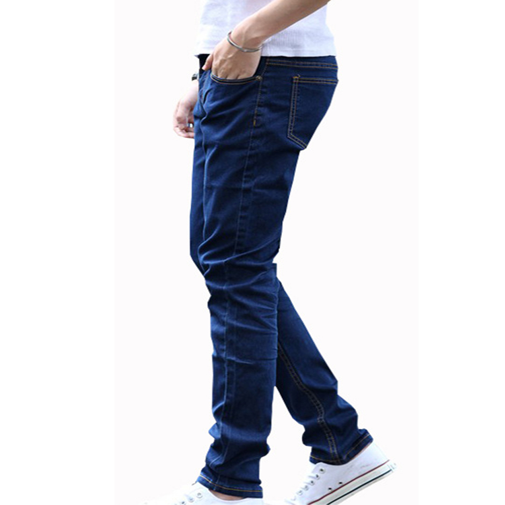 Men Fashion Casual Straight Leg Jeans