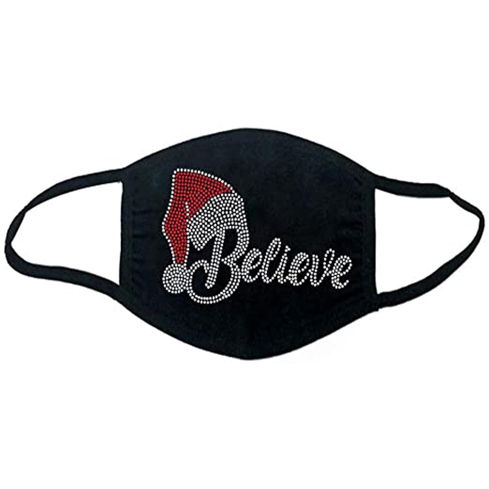 Cotton Mask Dustproof Washable Adult  Christmas Cloth Mask 6#_Adult