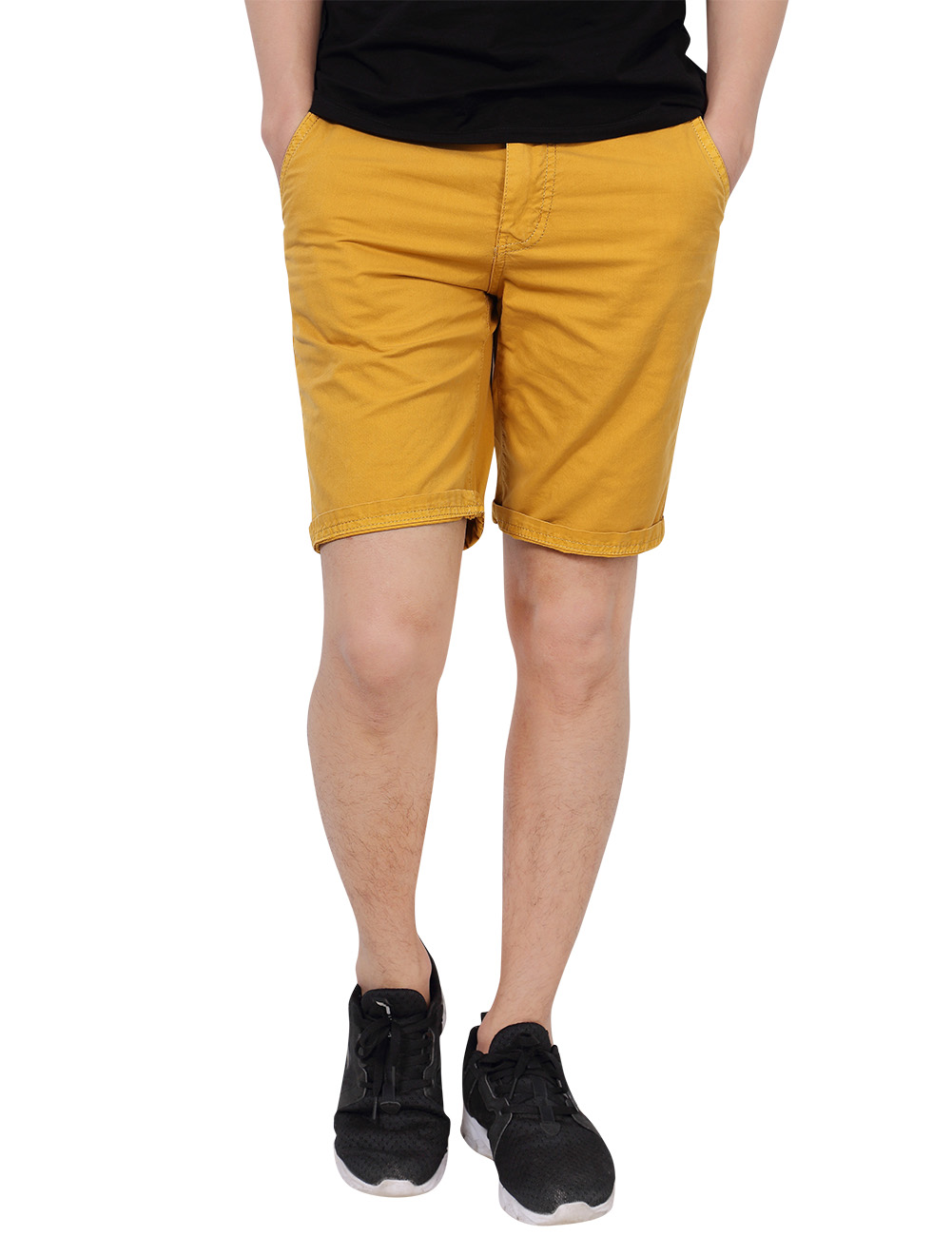 [US Direct] Yong Horse Men's Cotton Straight Classic Fit Casual Shorts with Pockets