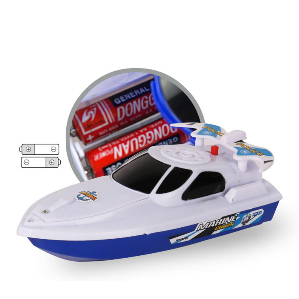 Boat Ship Model Toy Float in Water Summer Shower Bath Toys for Children Boys Gifts white