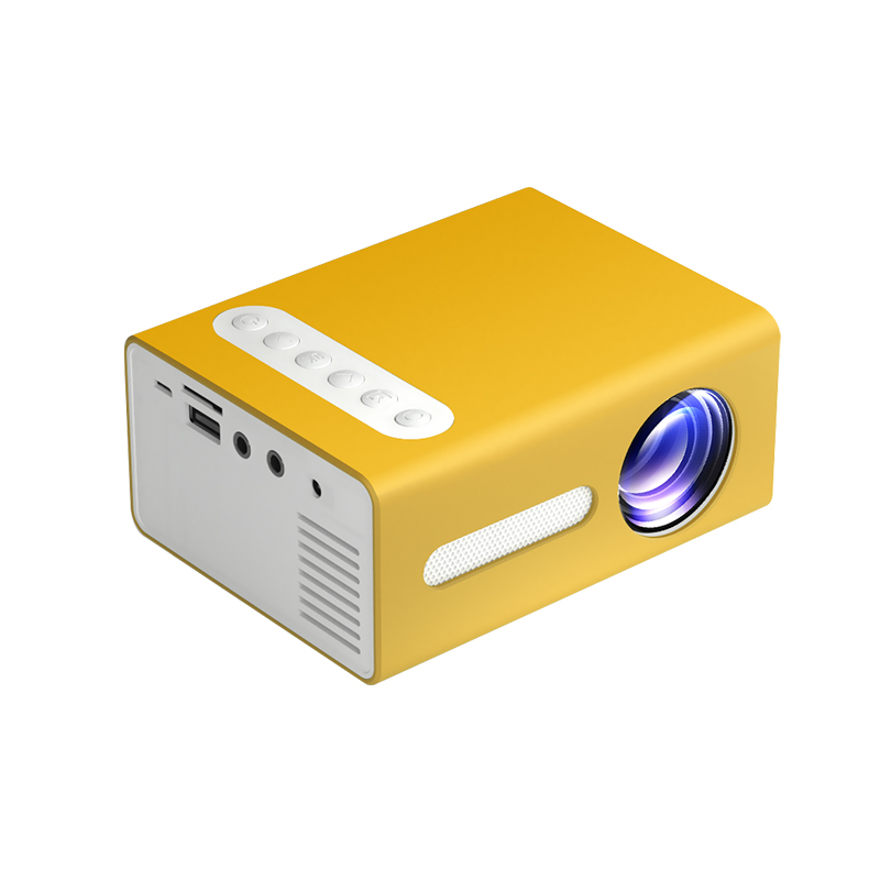 T300 LED Mini Projector Portable Kids Home RC Media Audio Player yellow_European regulations