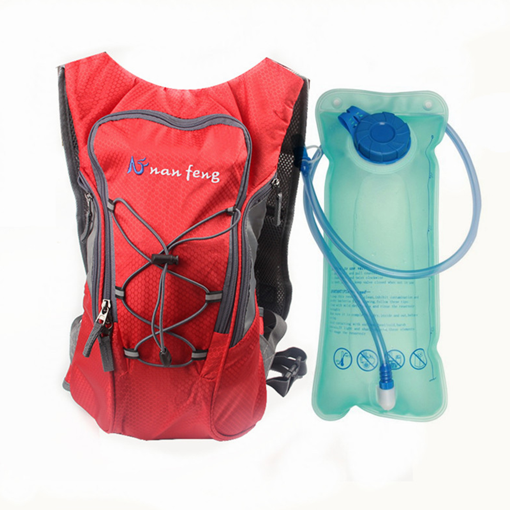 Riding Water Bag Backpack Bicycle 5L Sports Outdoor Riding Bag Cilmbing Travel Shoulders Bag New water bag + backpack red