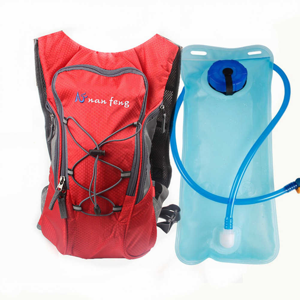 Riding Water Bag Backpack Bicycle 5L Sports Outdoor Riding Bag Cilmbing Travel Shoulders Bag 2 liter water bag + backpack red