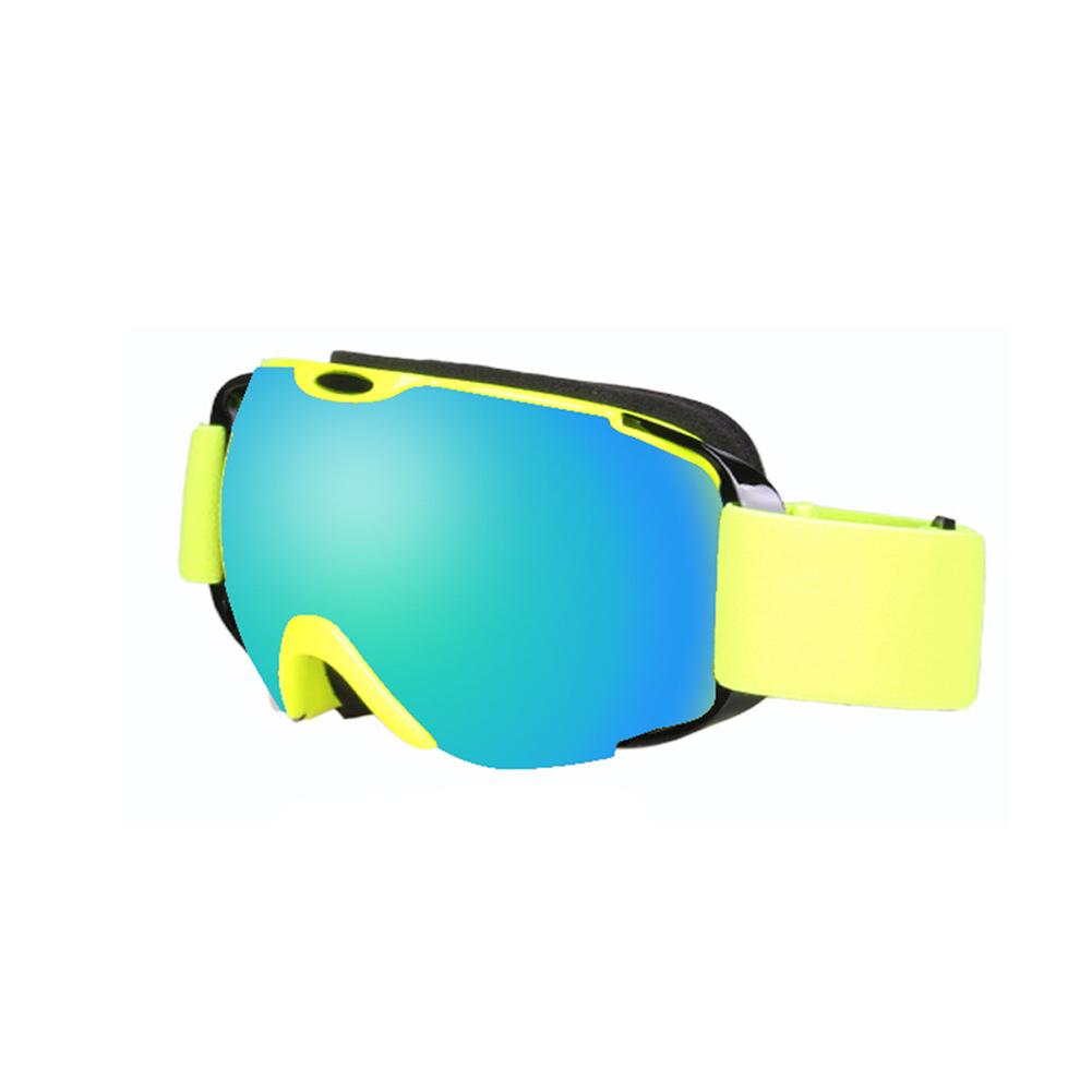 Ski Goggles Double Layer Antifog Large Spherical Snow Sports Snowboard Mountain Climbing Goggles Fluorescent yellow