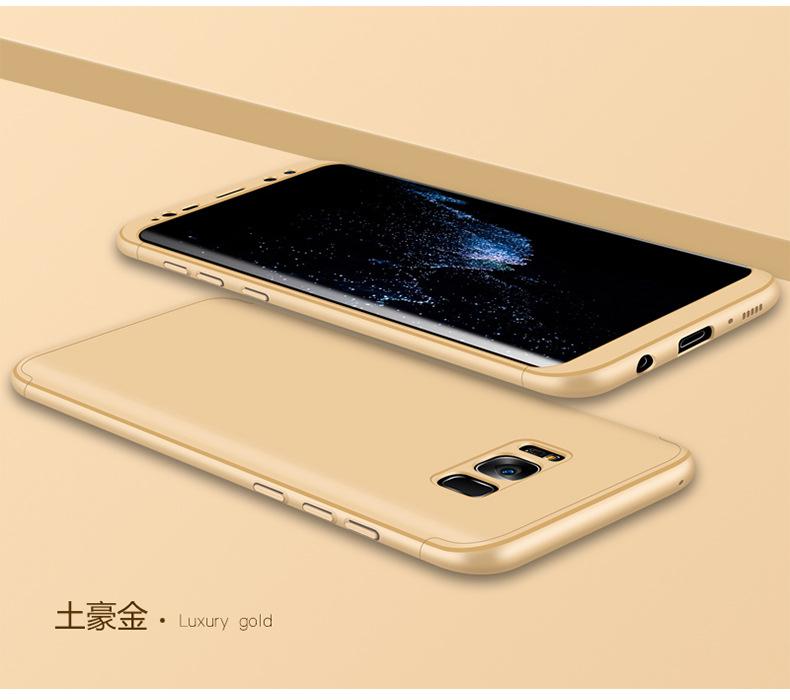 Luxury Slim Shockproof Full Cover Hybrid Back Case For Samsung Galaxy S8/S8+/S7 edge Golden_Golden