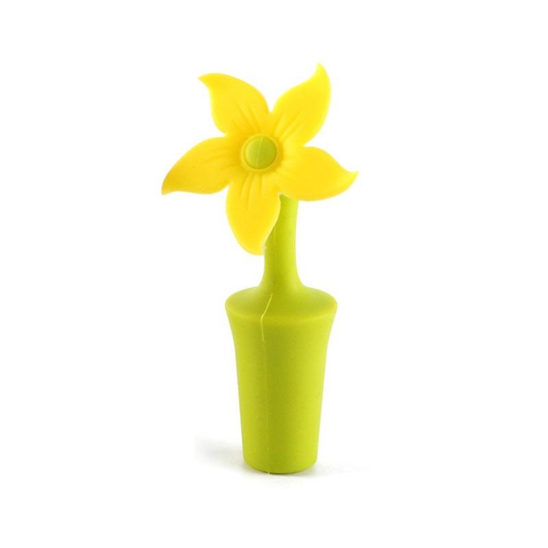 Silicone Wine Bottle  Stopper Flower Shaper Wine Cork Plug Portable Leakproof Sealer Sun flower
