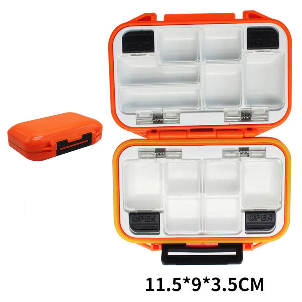 Fishing Storage Box Waterproof Fishing Lure Gear Accessories Small orange