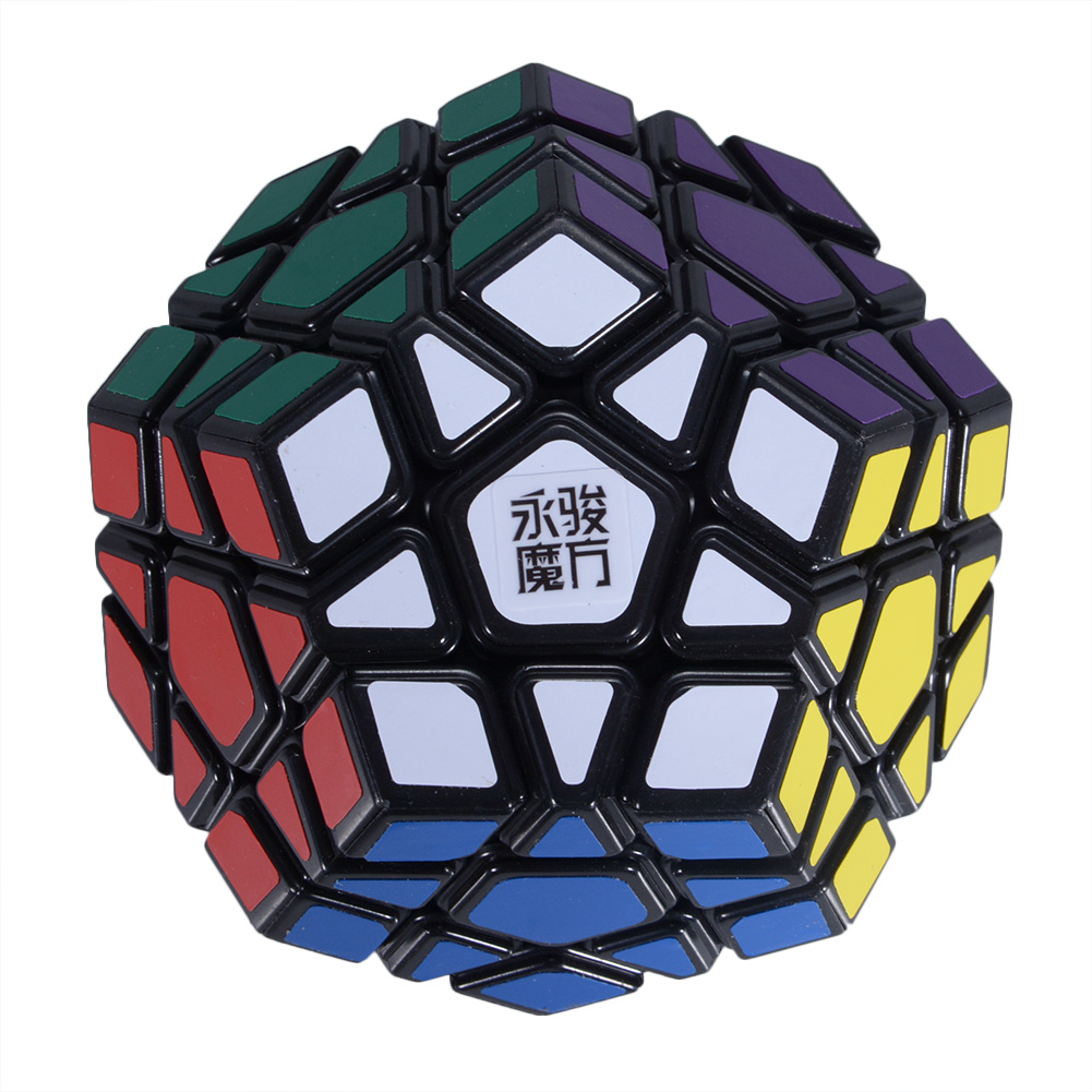 [US Direct] Formula® New Arrival YJ Yuhu Megaminx Magic Cube Speed Cube for Kids and Adult - Black