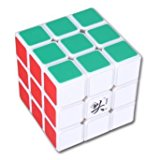 [US Direct] Magic Puzzle Speed Cube 3x3x3 6 Colors Dayan 55mm White Edge Professional
