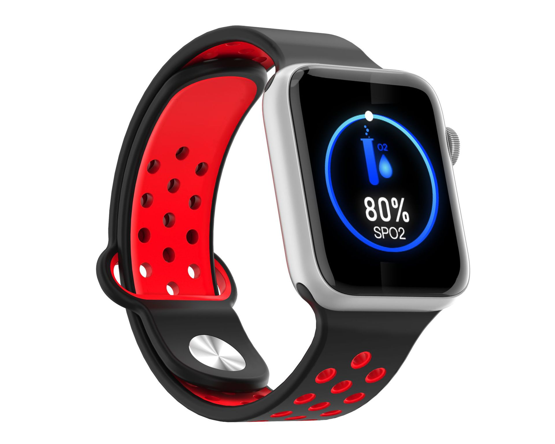M33 Full Touch Smart Bracelet Health Monitoring Fitness Tracker Waterproof Smartwatch Sport Smart Watch Silver red