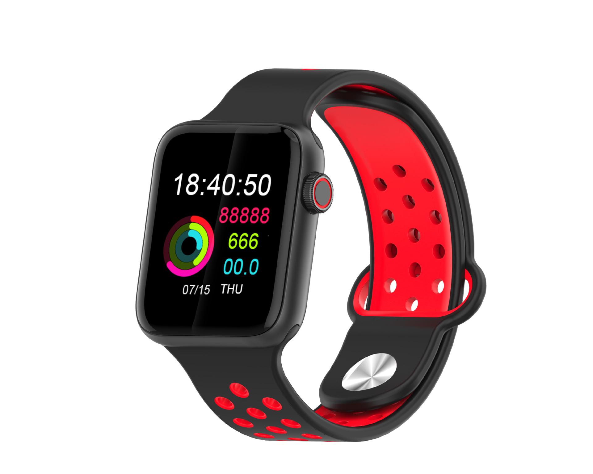 M33 Full Touch Smart Bracelet Health Monitoring Fitness Tracker Waterproof Smartwatch Sport Smart Watch Black red