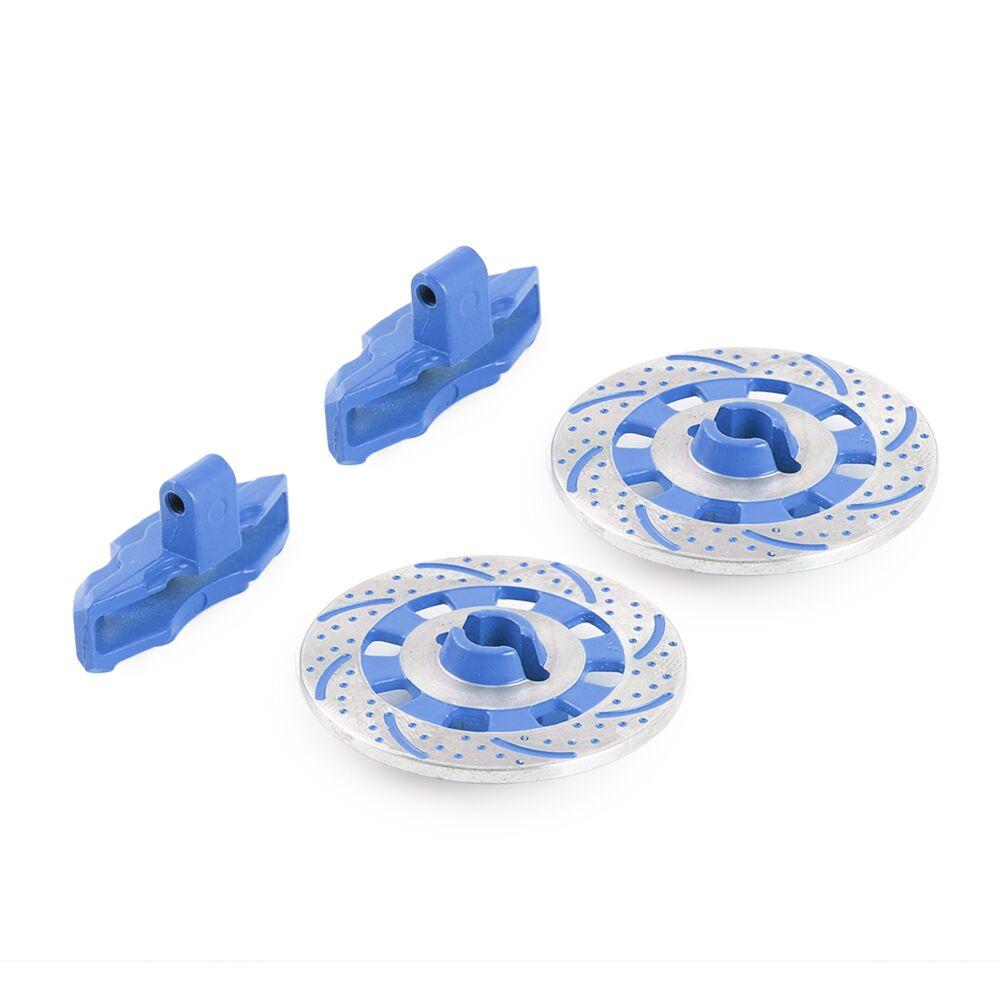 2PCS Aluminium Alloy Metal Brake Disc Drive Hub for 1/7 Traxxas Unlimited Desert Racer UDR 8569 RC Car Accessories F05 blue
