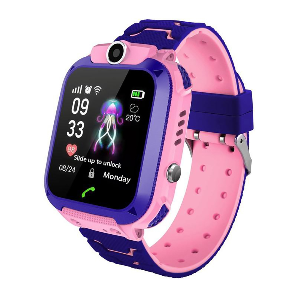 New Children Waterproof Phone Watch Smart Phone Positioning Watch Waterproof Student Watch Pink
