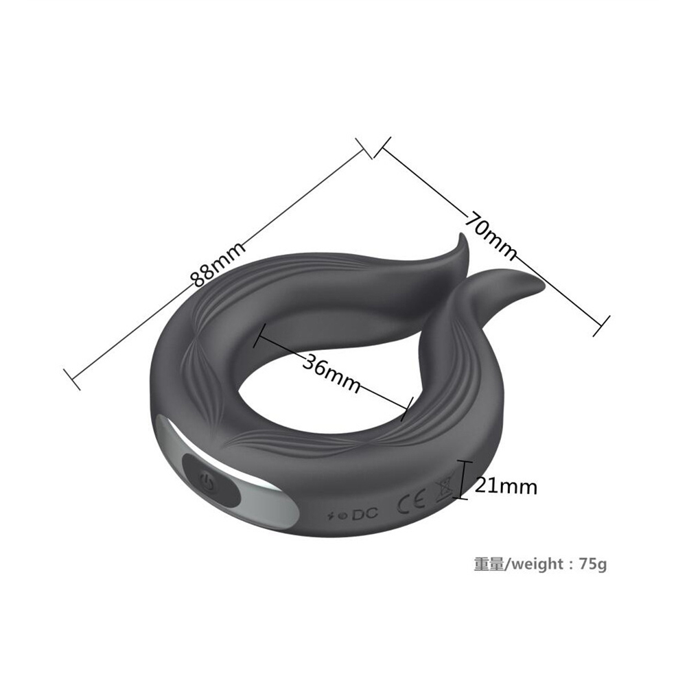 Silicone Cock Ring Sex Toys Men Vibrating Penis Ring Usb Rechargeable Delay Ejaculation Device Upgraded aluminum foil package