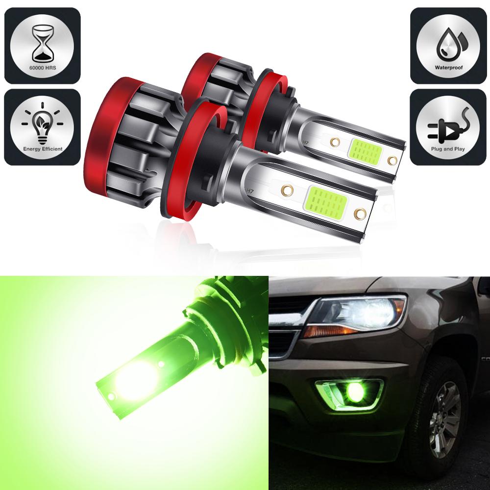 LED headlight front fog lamp 9-30 V 3000LM car modified green lime light bulb  H8/H11