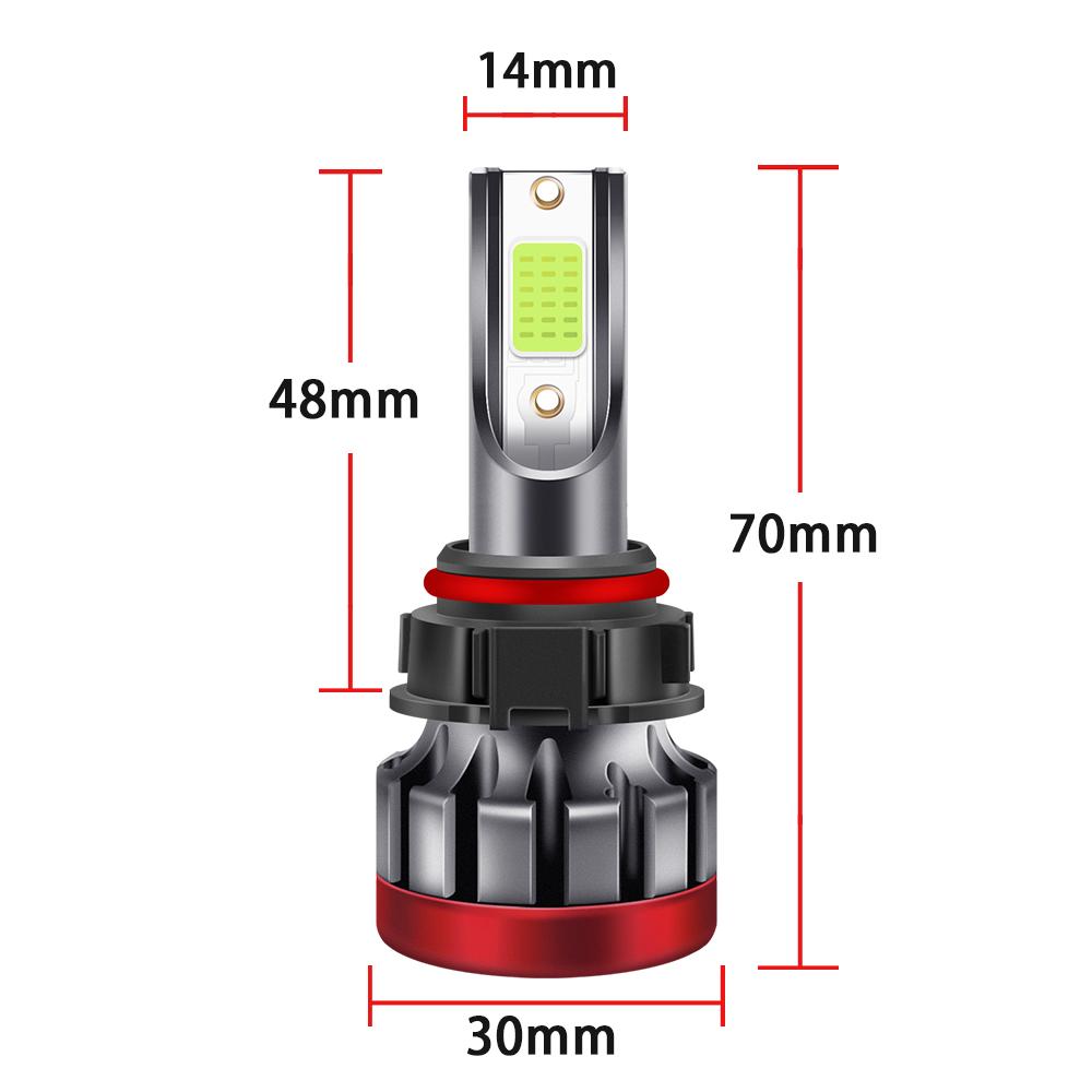LED headlight front fog lamp 9-30 V 3000LM car modified green lime light bulb  5202