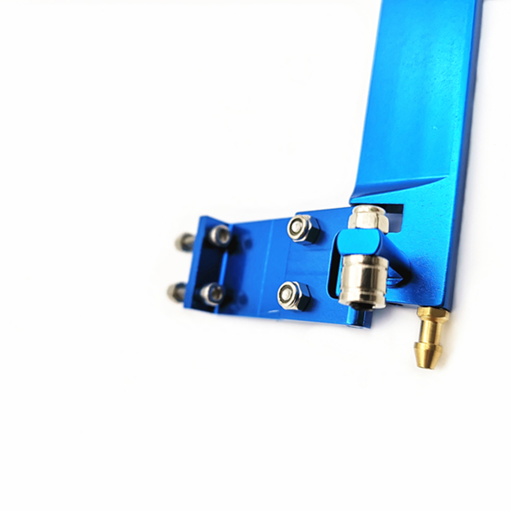 75mm Water Absorption Rudder for Electric Ship Methanol Ship Modeling Toy blue